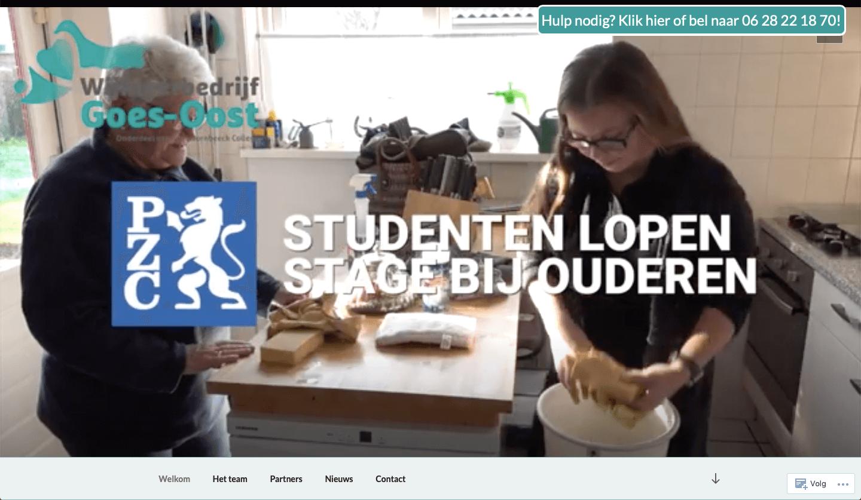 Website Wijkleerbedrijf Goes-Oost
