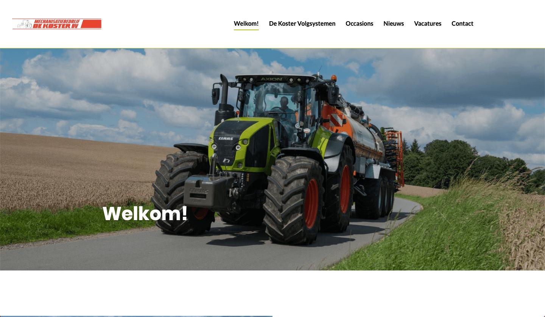 Website Mechanisatiebedrijf De Koster