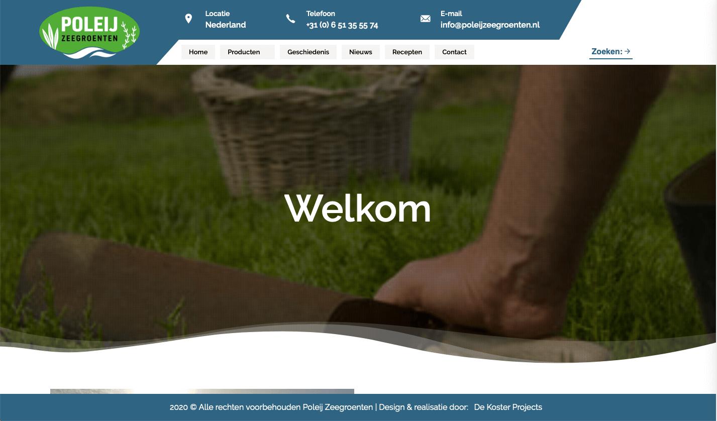 Website Poleij Zeegroenten